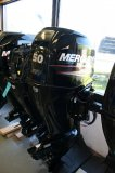 Mercury 50 ELHPT CT BT FourStroke outboard with Command Thrust Gearcase and Big Tiller handle