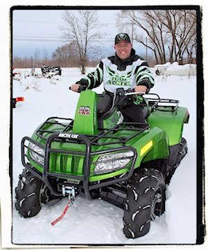 On the lot with Jay and an Arctic Cat ATV