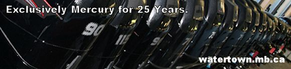 Mercury outboard engines, exclusively Mercury for 25 years in Lac du Bonnet.